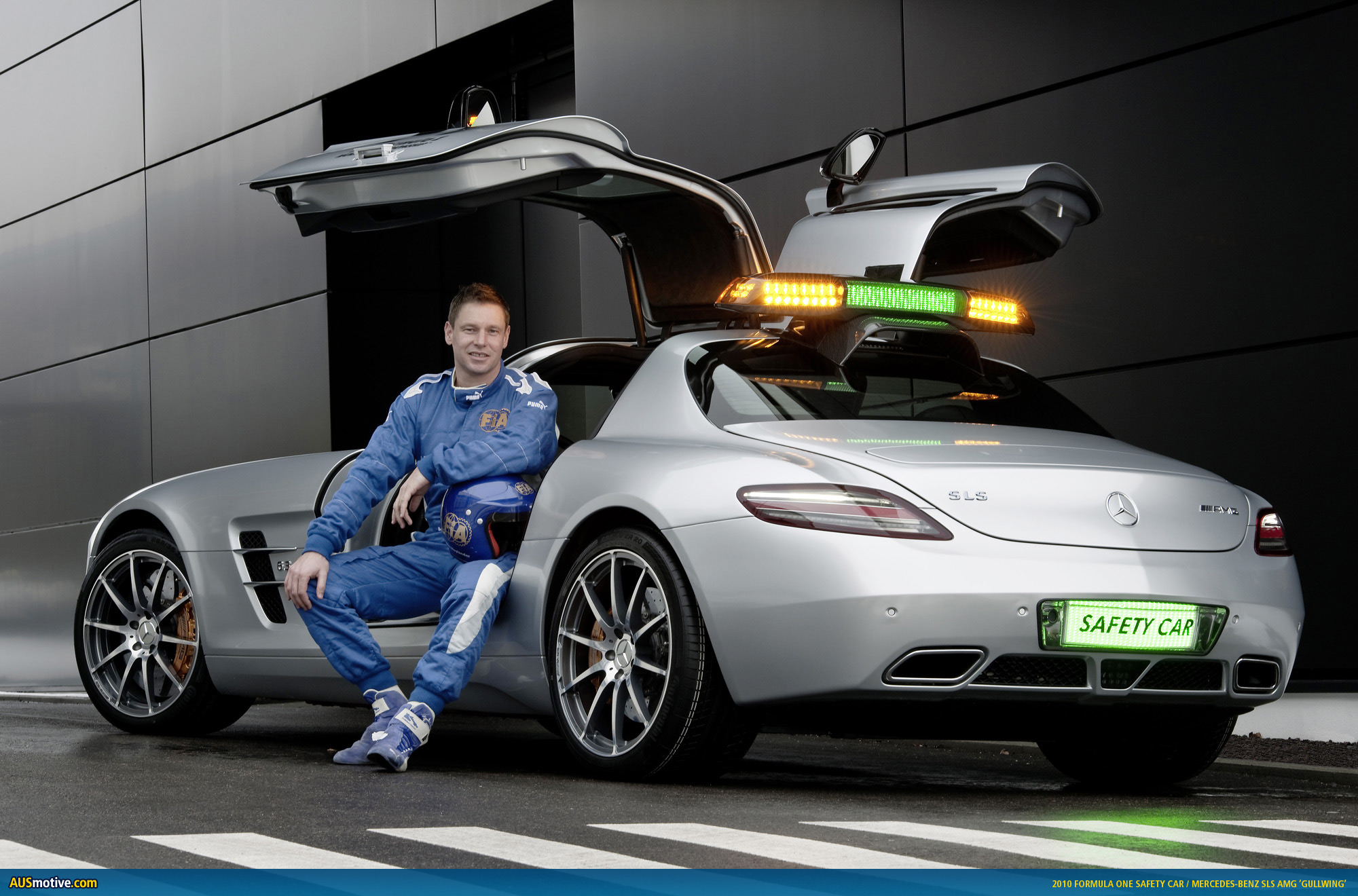 F1 safety car gives you wings for Mercedes benz f1 car