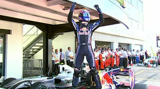 Mark Webber, winner, 2010 British GP