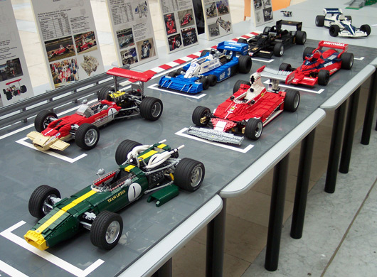 Lego Formula One cars