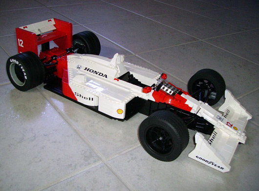Lego Formula One cars