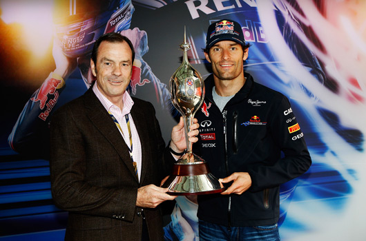 Alan Gow (L), Mark Webber (R)
