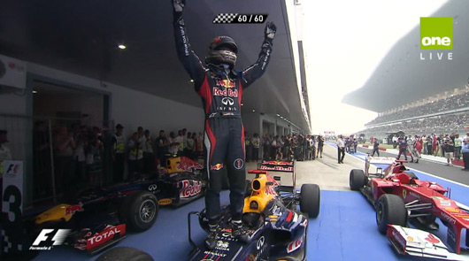 Sebastian Vettel wins 2012 Indian Grand Prix