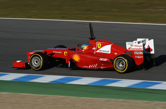 F1 Jerez pre-season testing, February 2012