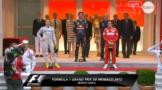 Mark Webber wins 2012 Monaco Grand Prix