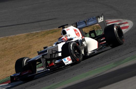 Kamui Kobayashi, Sauber C31, Barcelona