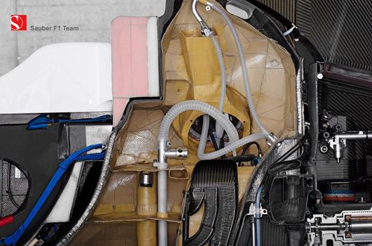 Sauber F1.08 cutaway
