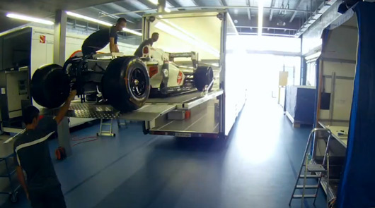 Sauber F1 Team time lapse video