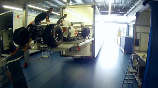 Sauber F1 Team time lapse video