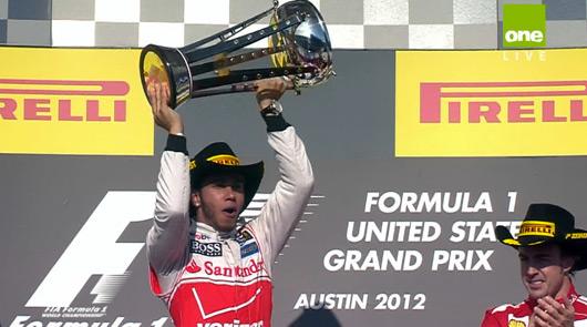 Lewis Hamilton wins 2012 USGP