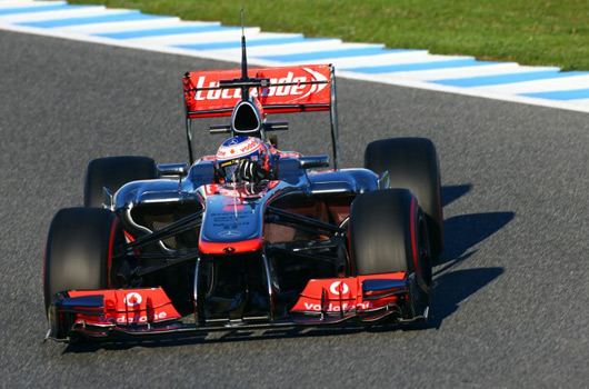 Jenson Button, McLaren MP4-18, Jerez