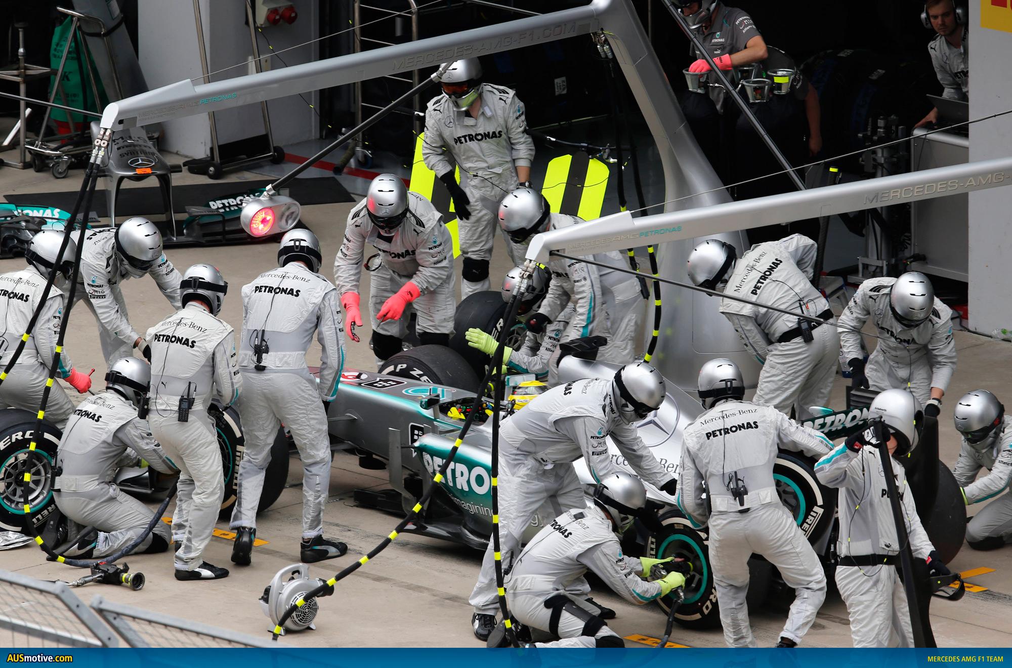 Resultado de imagen de pit stop f1 Mercedes