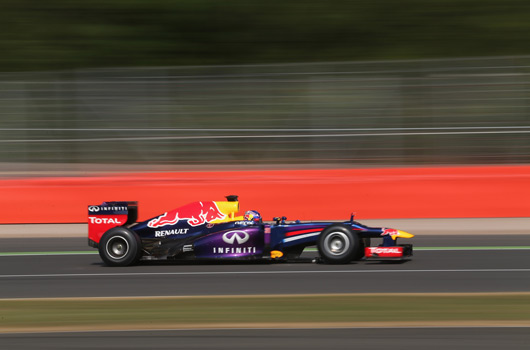 Daniel Ricciardo testing for Red Bull Racing, July 2013