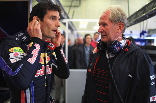 Mark Webber talks to Helmut Marko, 2010 Belgian GP