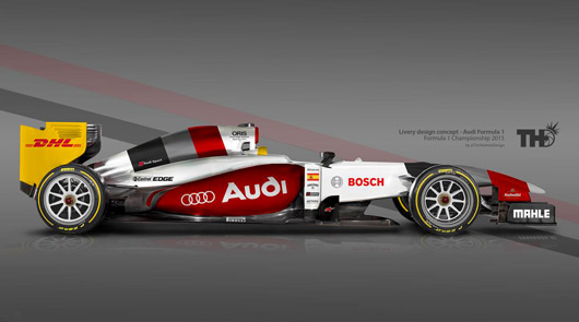 Audi F1 livery by Tim Holmes Design