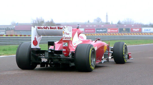 Sebastian Vettel laps Fiorano in the F2012
