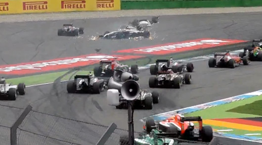 Felipe Massa crashes out at the 2014 German Grand Prix