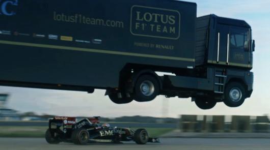 Lotus F1 Team truck jump