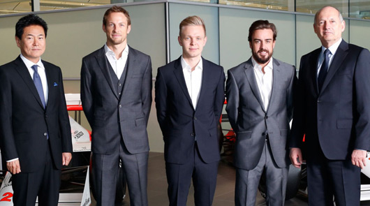 Fernando Alonso and Jenson Button announced as McLaren drivers for 2015