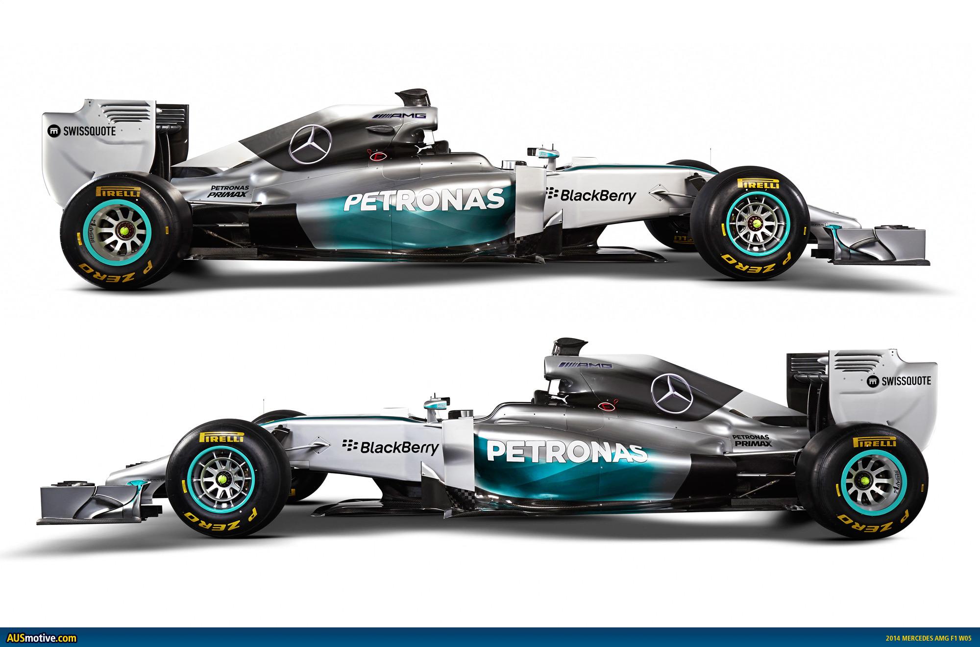 AUSmotive.com » 2014 Mercedes AMG F1 W05 revealed