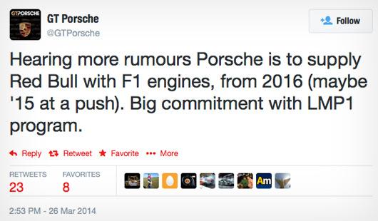 GT Porsche tweet