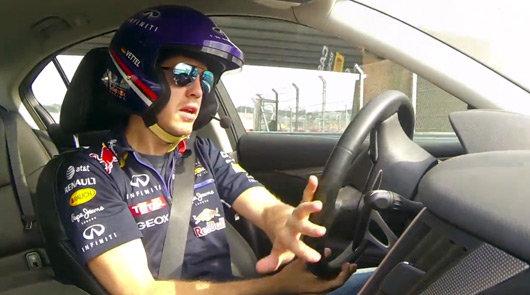 Sebastian Vettel drives a lap of Sochi F1 circuit