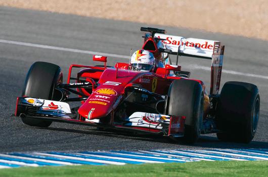 Sebastian Vettel, Ferrari SF15-T, Jerez
