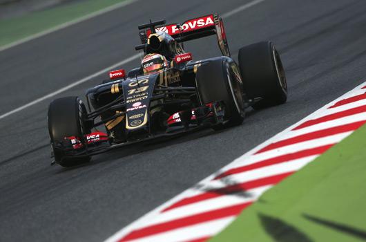 Pastor Maldonado, Lotus E23, Barcelona