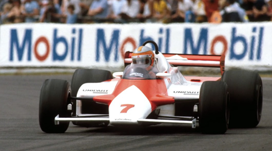 John Watson wins the 1981 British Grand Prix driving the McLaren MP4/1