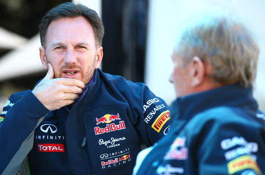 Christian Horner and Helmut Marko, Red Bull Racing