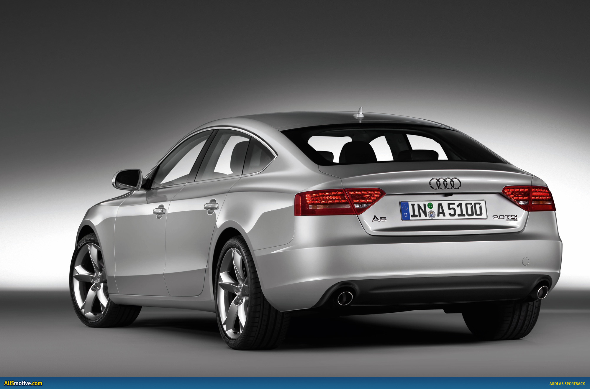 audi unveils a5 sportback due in australia early 2010. Black Bedroom Furniture Sets. Home Design Ideas