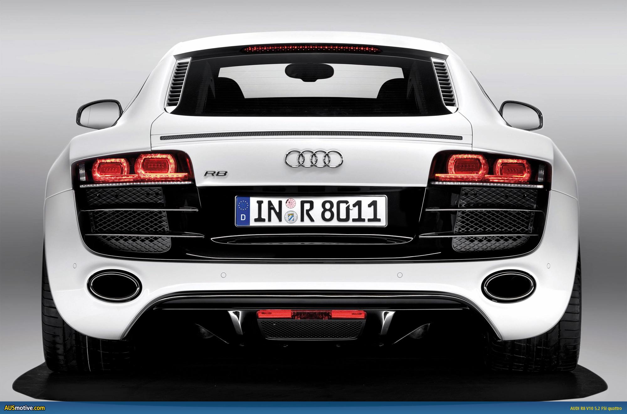 Audi R8 V10 unwrapped in Detroit