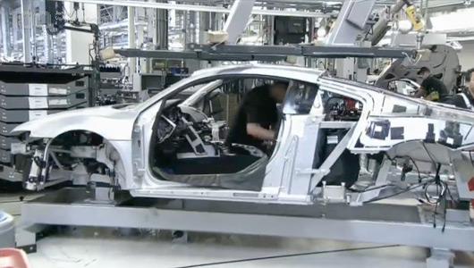Audi R8 production line