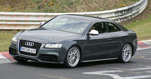 Audi RS5 in testing at the Nurburgring
