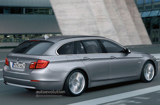 BMW 5 Series Estate rendering