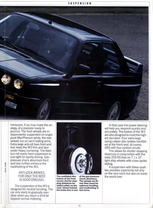 BMW E30 M3 - US brochure
