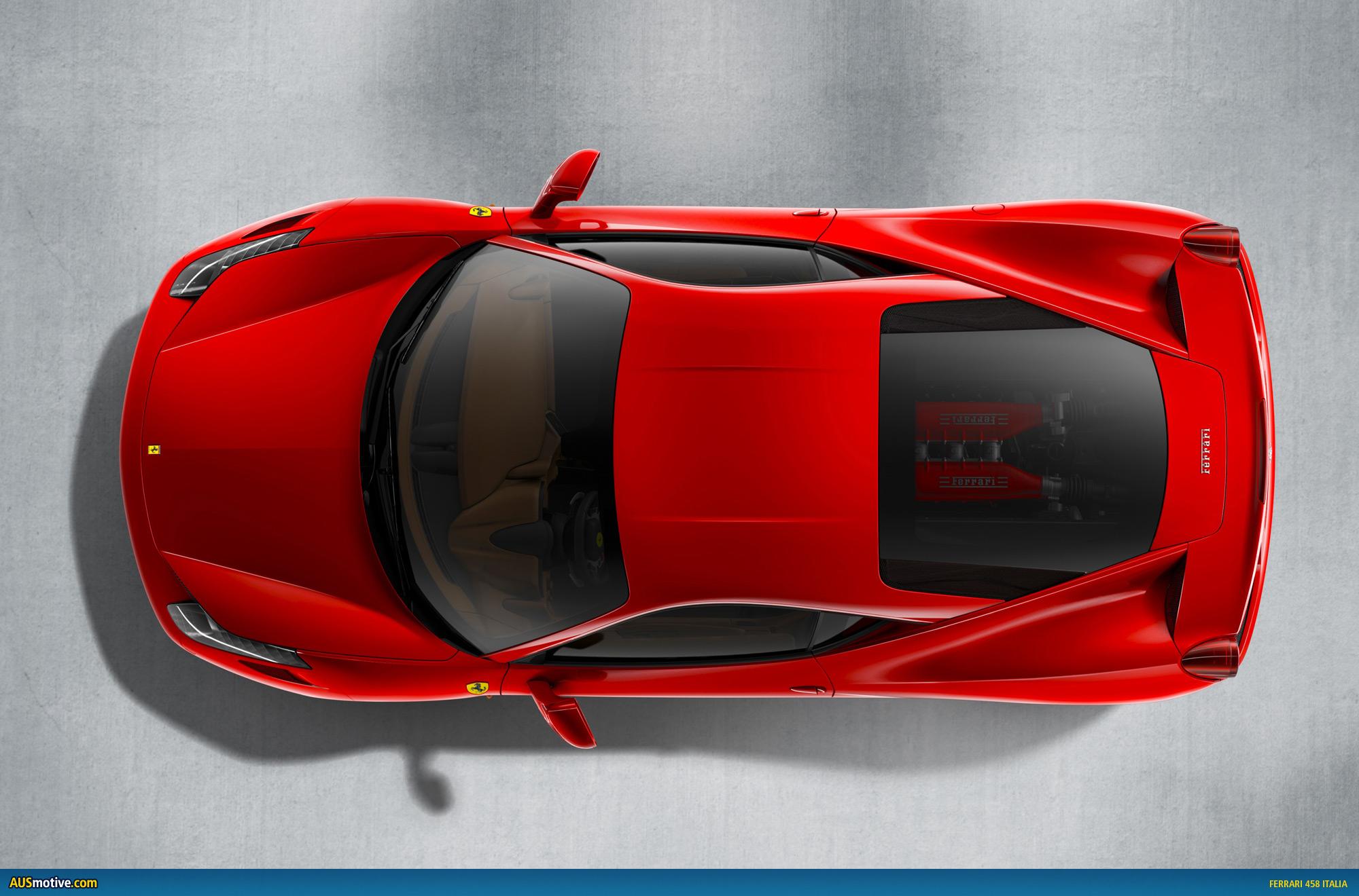 Ferrari 458 italia hallowed be thy name - Voiture vue de haut ...