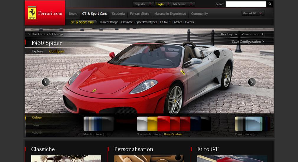Ausmotive Com Ferrari Com Website Launches