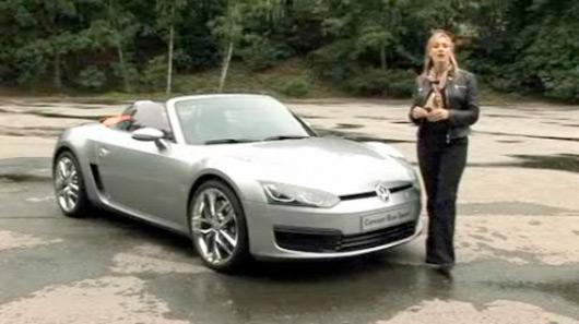 Vicki Butler-Henderson drives Volkswagen's Concept Bluesport roadster