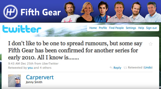 Fifth Gear set for 2010 comeback