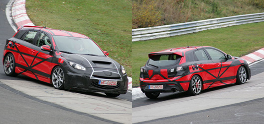 Mazda 3 MPS spied in testing on the Nurburgring