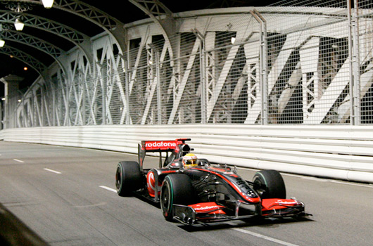 McLaren & Mercedes build a bridge