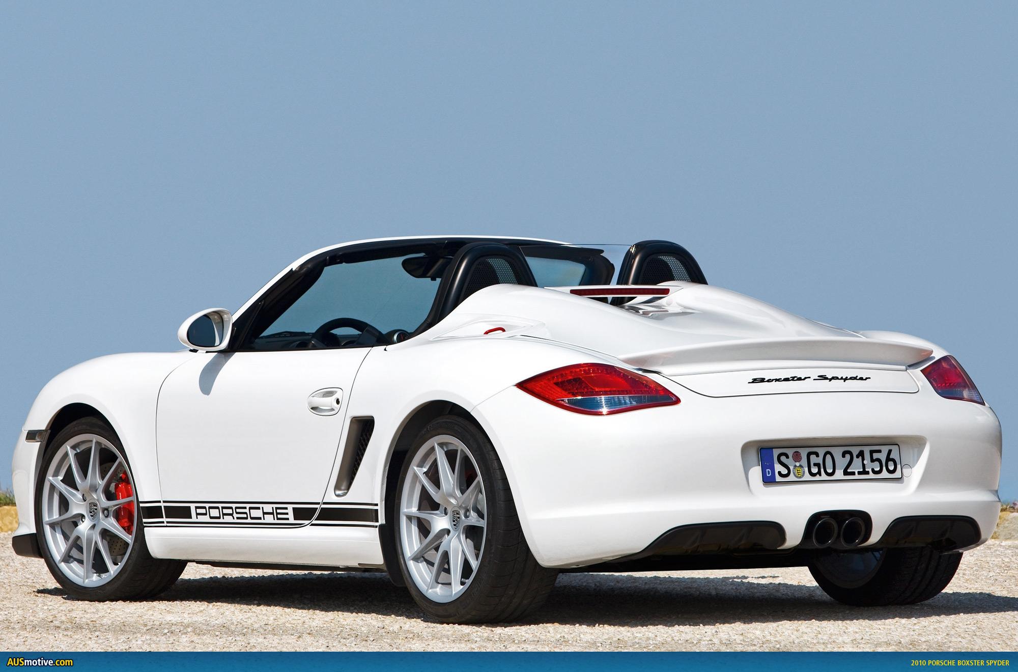 AUSmotive.com » Sneak peek: 2010 Porsche Boxster Spyder