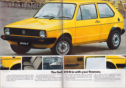 1980 Volkswagen Golf brochure