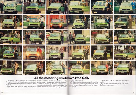 1980 Volkswagen Golf brochure