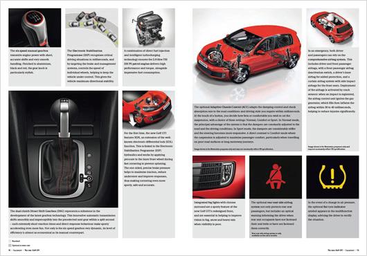 VW UK Golf GTI brochure