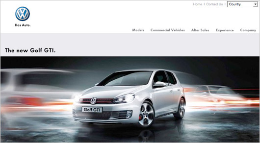 Volkswagen NZ - Golf GTI website