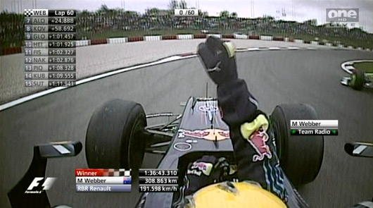 Mark Webber wins 2009 F1 German Grand Prix