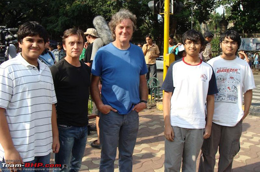 Richard Hammond and James May with fans in Mumbai