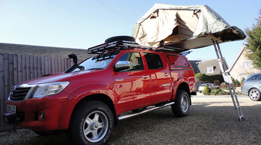 Toyota Hilux prepared for TopGear