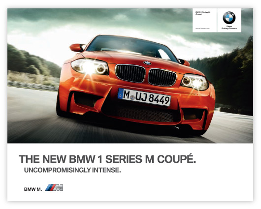 BMW 1M Coupe brochure cover